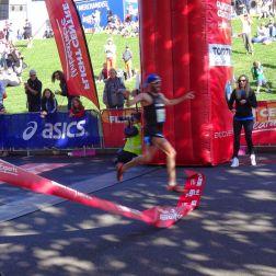 The half marathon finish