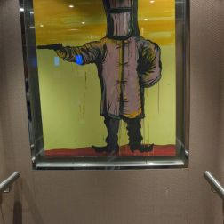 The man in the lift