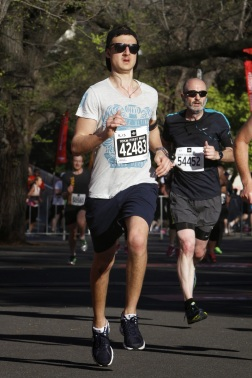 Attempting a sprint finish
