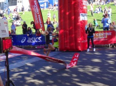 The half marathon finish