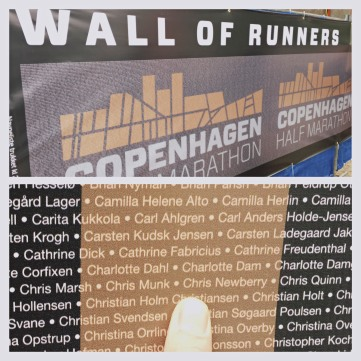 Me on the Wall of Runners
