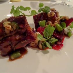 Lamb Neck with Beetroot & Runner Beans