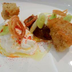 Burrata with Aubergine & Sourdough