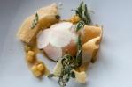 Duck yolk, pear, truffle