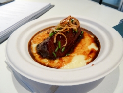 Beef Cheek, Smoked Mash, Crispy Shallots from The Truscott Cellar
