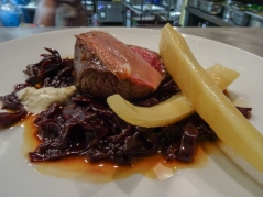 Venison, Spiced Red Cabbage, Parsley Root & Lardo