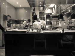 View in to the kitchen