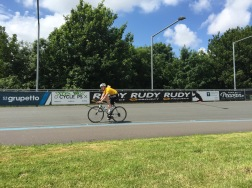 Rider on the track