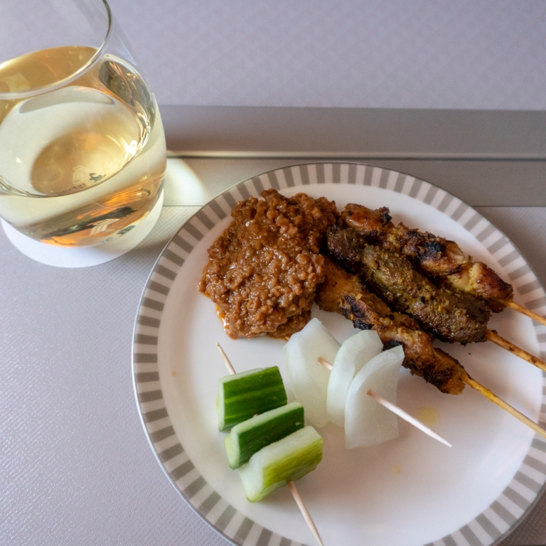 Singapore Air - Chicken & Lamb Satay - Canape