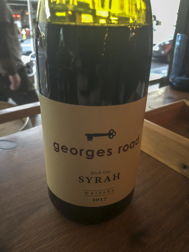 2017 Georges Road, Black One Syrah - Waipara