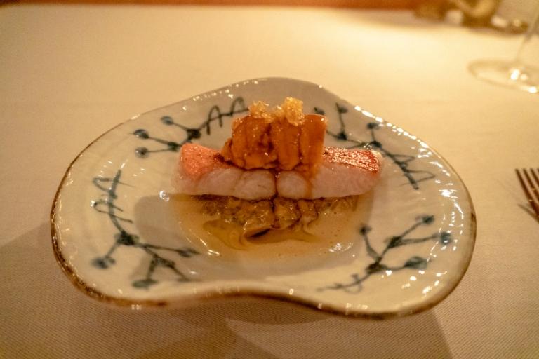 Kinmedai, Koshikari Rice, Sea Urchin, Matsutake, Vin Jaune