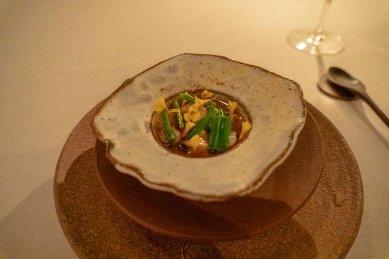 Chawanmushi, King Crab, Ramson, Foie Gras & Pork Dashi
