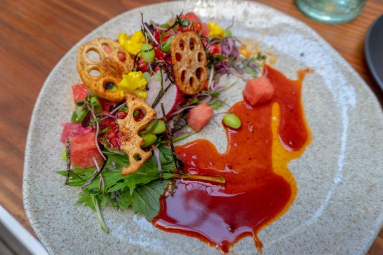 Salmon Sashimi Salad @ The Kimchi Project